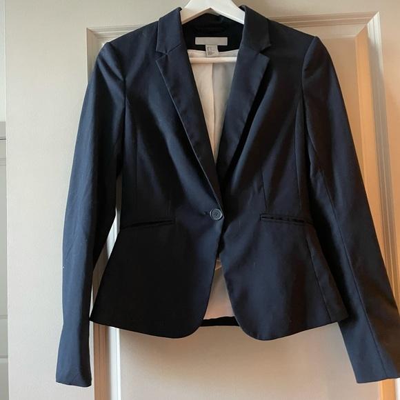 H&M Navy Cropped Blazer